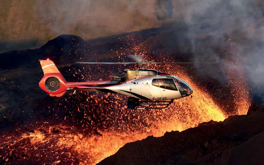 Survol en hélicoptère : Le Volcan