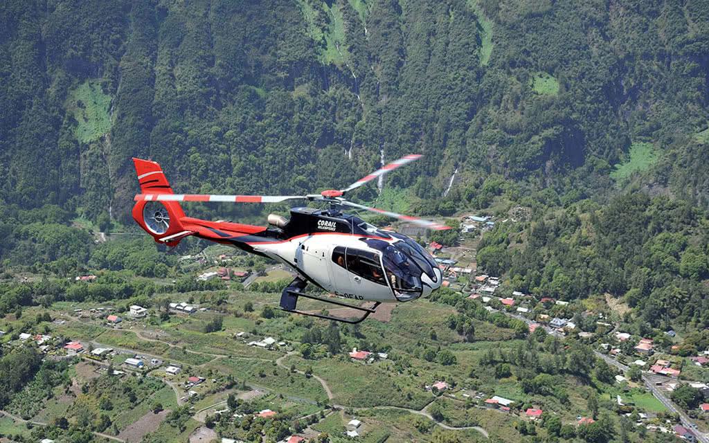 Survol en hélicoptère : Cilaos