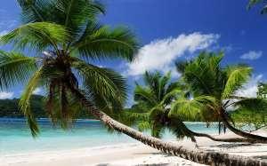 Se prelasser sur le sable blanc immaculee
