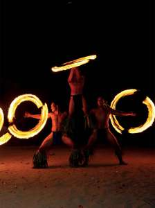 spectacle feu tahiti