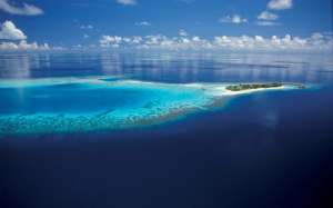 atoll maldivien et son lagon