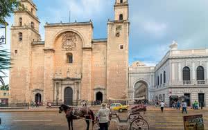 Cathédrale de la cité blanche à Mérida