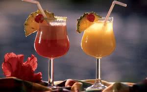 Cocktail exotique sous les tropiques