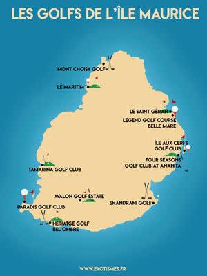 Carte Golfs Ile Maurice