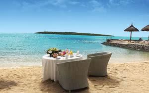 plage amenagee H�tel Preskil Island Resort