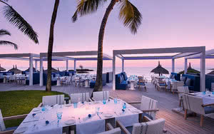 restaurant terrasse vue mer Hôtel Constance Belle Mare Plage
