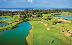 vue aerienne golf Hôtel Heritage Awali Golf & Spa Resort