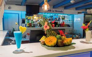 bar a la veranda Hôtel Canella Beach