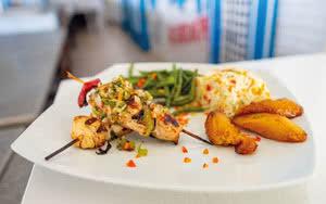 plat a la veranda restaurant Hôtel Canella Beach
