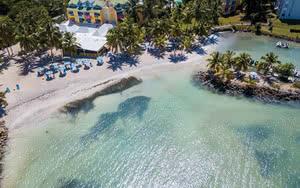 vue aerienne plage Hôtel Canella Beach