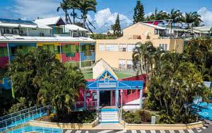 vue ensemble Hôtel Canella Beach