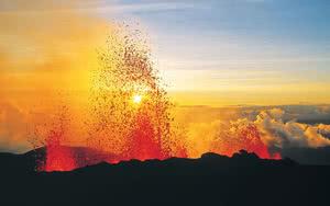 Volcan Piton de la Fournaise de La Réunion