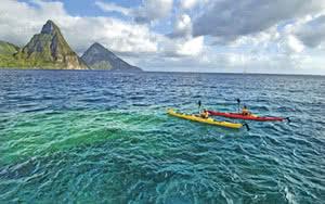 kayak mer caraibes sainte lucie