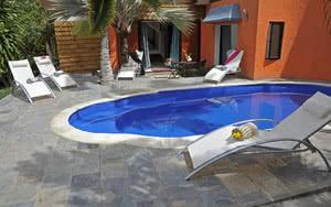piscine terrasse Hôtel Flowers of Paradise Maurice