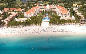 vue aerienne hotel riu palace riviera maya