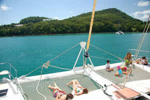 vue des seychelles catamaran
