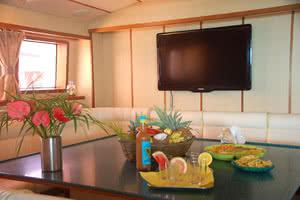 cabine repas grand luxe croisière seychelles
