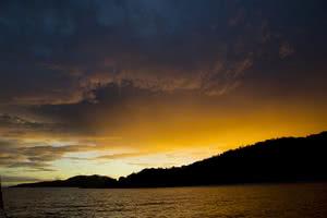 coucher de soleil croisière seychelles