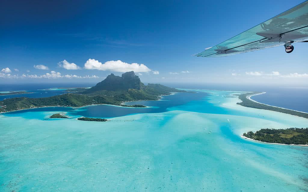 Survol de Bora Bora, Raiatea et Tahaa - 45 min
